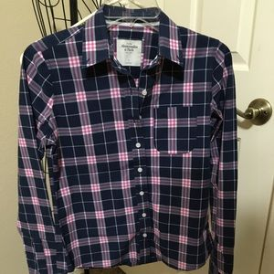 plaid button-up shirt from abercrombie